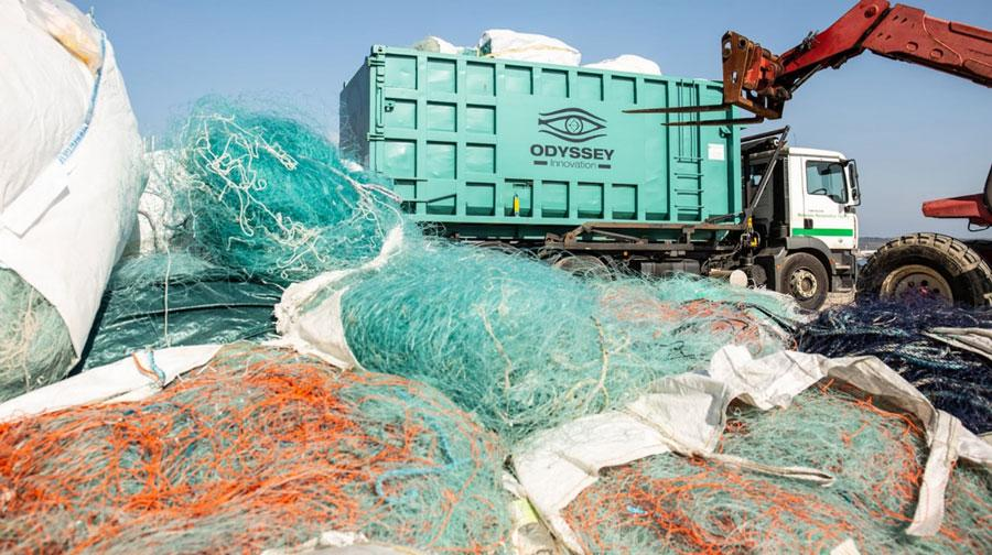 Net collection by Odyssey Innovation from beaches and harbours