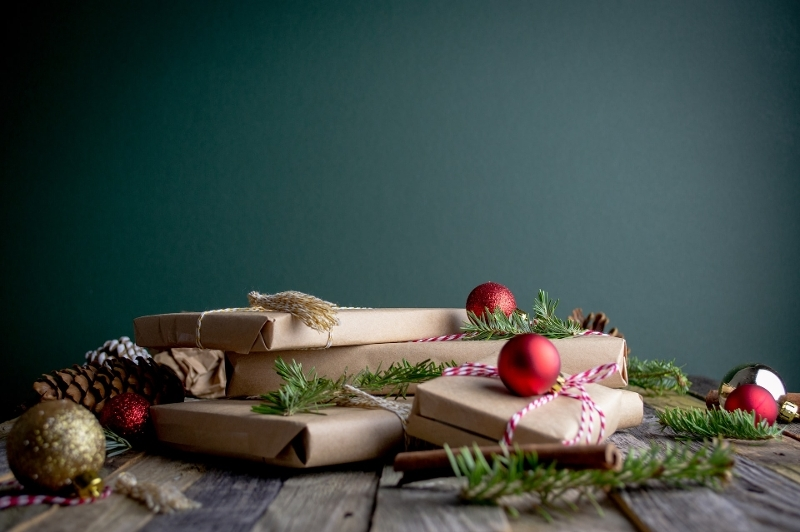 Christmas gifts and baubles