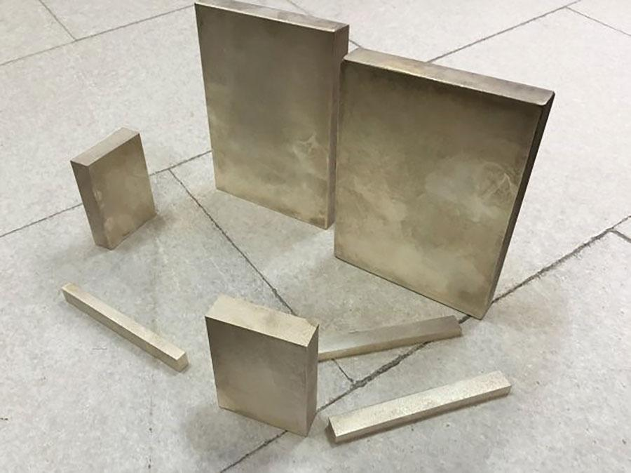 Samples of magnesium, silicon, zinc and calcium alloy submitted to LG Electronics for testing