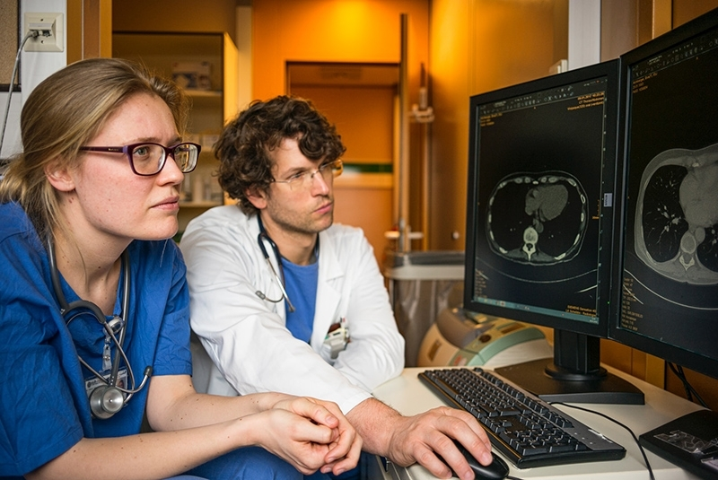 Radiologists at work
