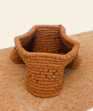 3D printed structure using soil