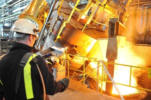 The seven-tonne Electric Arc Furnace located at the Material Processing Institute's Normanton Plant, UK
