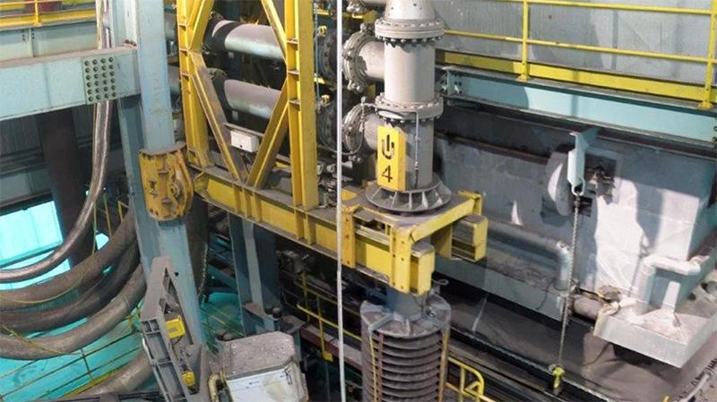 Outotec Ausmelt top submerged lance (TSL) equipment at a tin concentrator