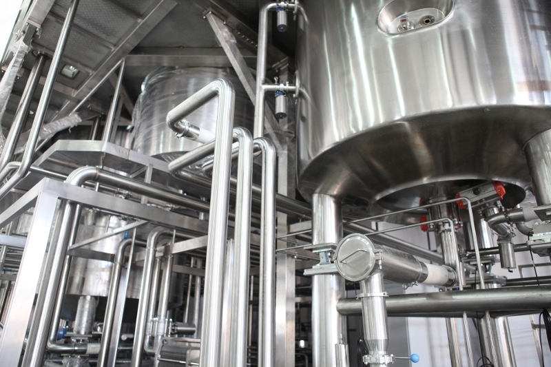 Steel pipes and vats